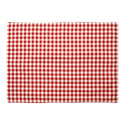 S/4 Gingham Place Mats, Red by One Kings Lane $55 #Olioboard #Product #Sales