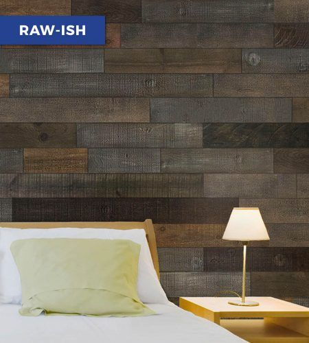 AS-IS Brand Wood Walls beautifully capture the aged, distressed, and rustic feel of reclaimed barn wood. Add a wood feature wall to your home today!