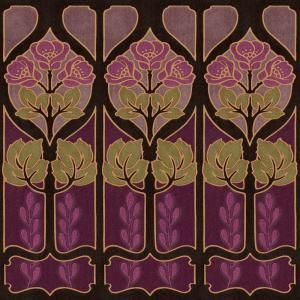 The Wallpaper Company, 20.5 in. x 15 ft. Aubergine Large Trellis Border, WC1281356 at The Home Depot - Mobile