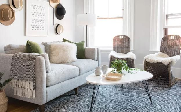 Small Space Makeover A Bright Open Living Room How One Editor Defined A Stylish Seating Ar Wayfair Living Room Chairs Small Living Rooms Bright Living Room
