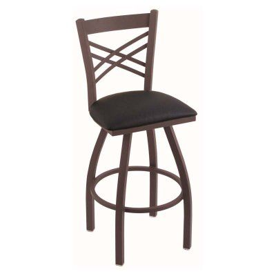 Holland Bar Stool Catalina 30 in. Swivel Bar Stool with Faux Leather Seat - 82030BZBLKVINYL, Durable