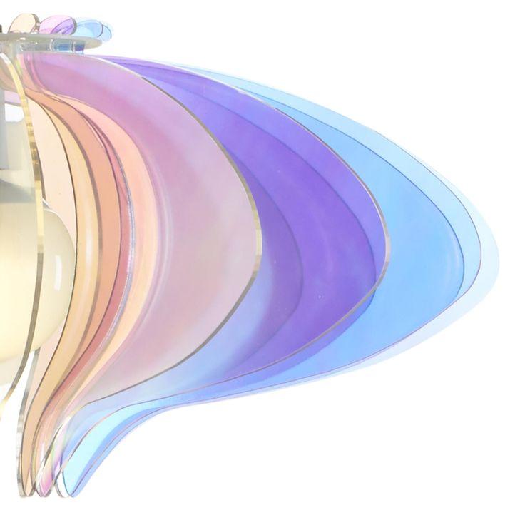 Sospensione in metacrilato E-Flash CIGNO Ø 52xh27 cm Struttura in metallo cromato verniciato bianco | Emporium | Stilcasa.Net: lampade a sospensione