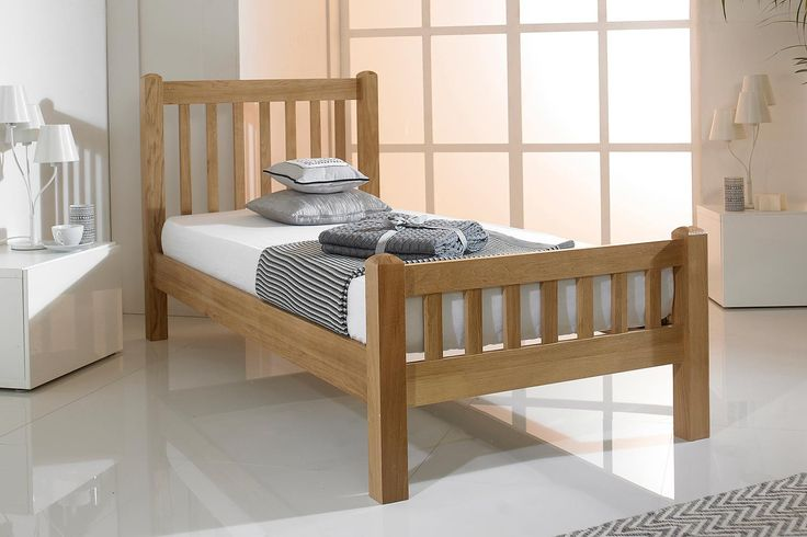 £259. Emporia Solid Oak Bed Frame 3ft - Single | The Oak Bed Store