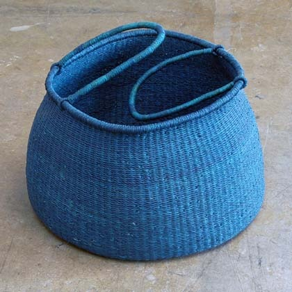Love the colour of this, although not sure what I'd put in it // blue Accra basket