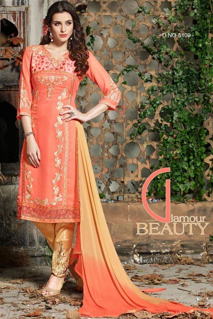 Designer salwar kameez mesmeric peach color net designer suit - Find This Pin And More On Designer Salwar Suits By Lookslady