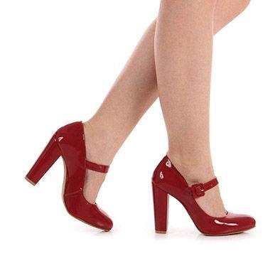 Sapato Boneca Feminino Bruna Rocha - Vermelho