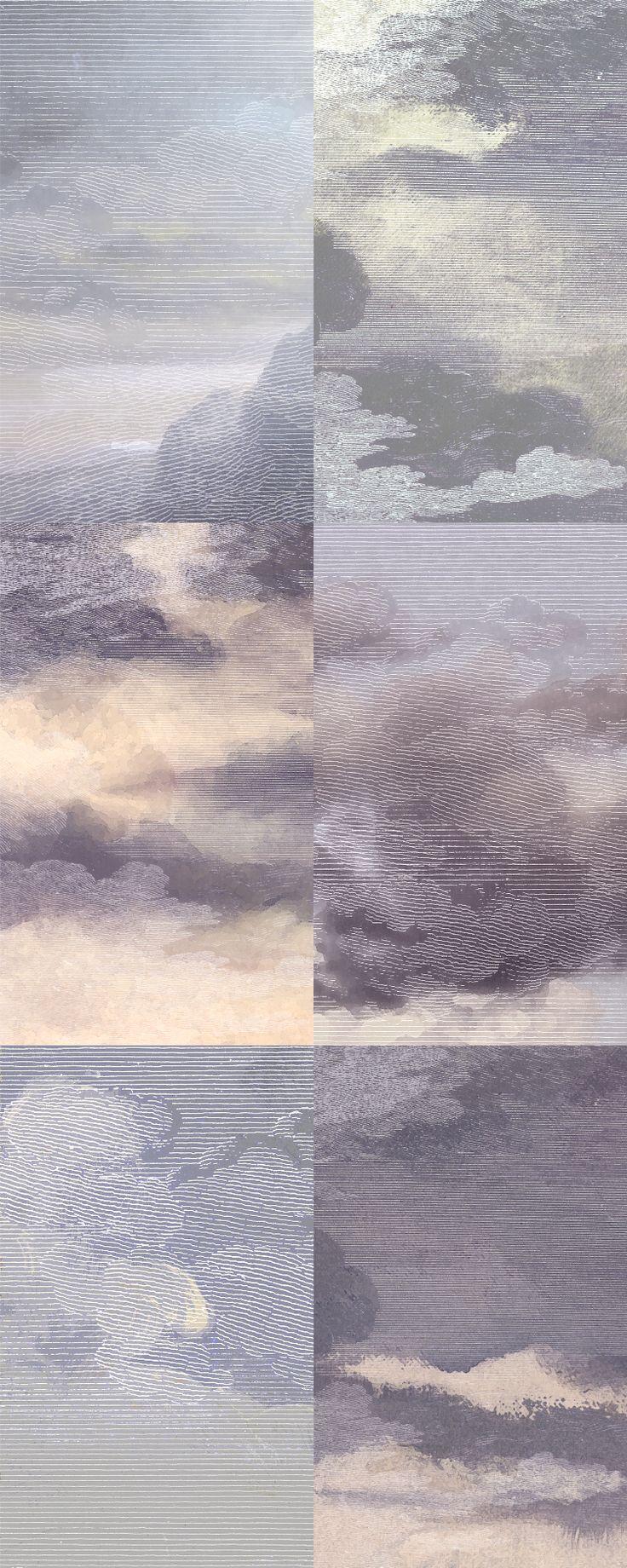 """""""Dutch Sky"""" Wallpaper.   Dusk-Violet"""