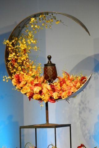 #Alublech #Blech #Büro #K #rund artist floral tribute design
