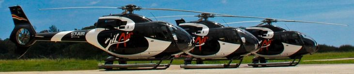 EUROCOPTER EC120  https://avia-angel.com/helicopters-for-sale/airbus-h120-eurocopter-ec120/ Fenestron-type tail rotor and main rotor bushing Spheriflex enhance security both on the ground and in flight and reduce external noise.