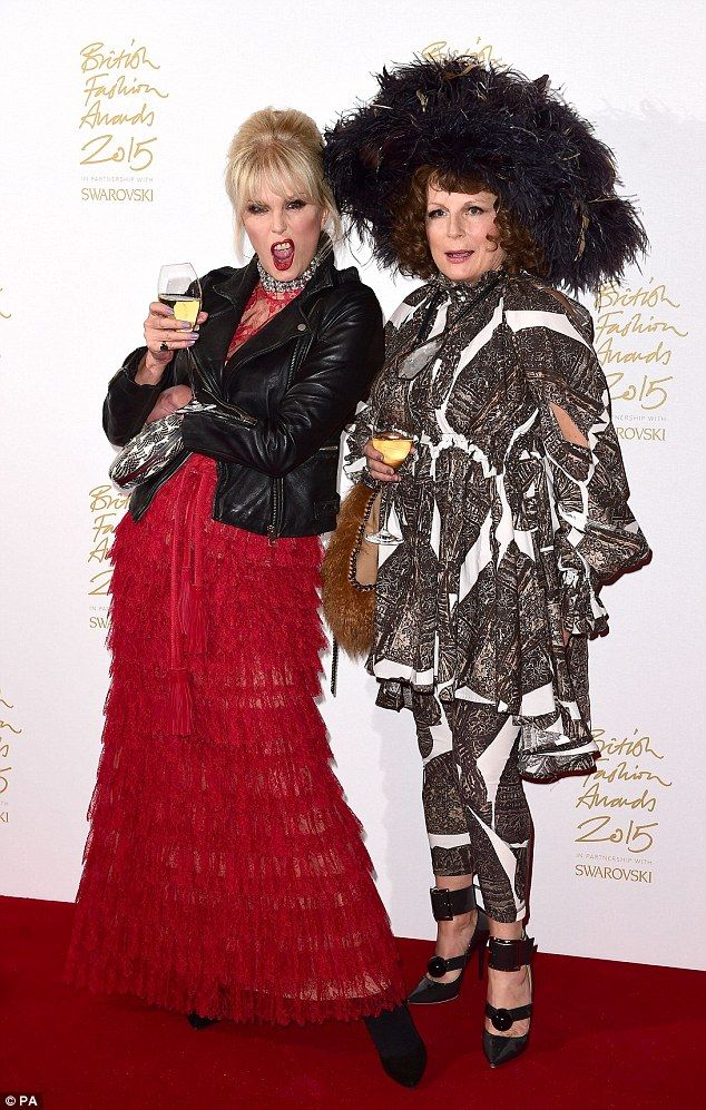 So showbiz, darling! Joanna Lumely and Jennifer Saunders dressed as their…