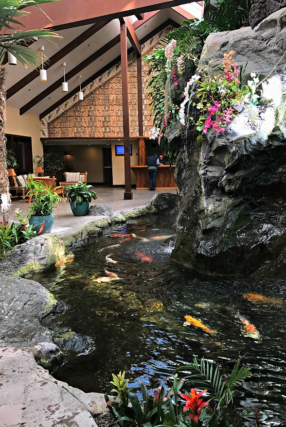 The Catamaran Resort's tropical lobby ~ 15 Best San Diego Attractions for Kids + Recommended Restaurants and Hotels