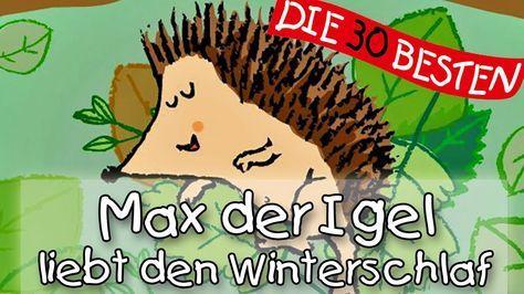 Max, der Igel, liebt den Winterschlaf - Winterlieder zum Mitsingen || Ki...