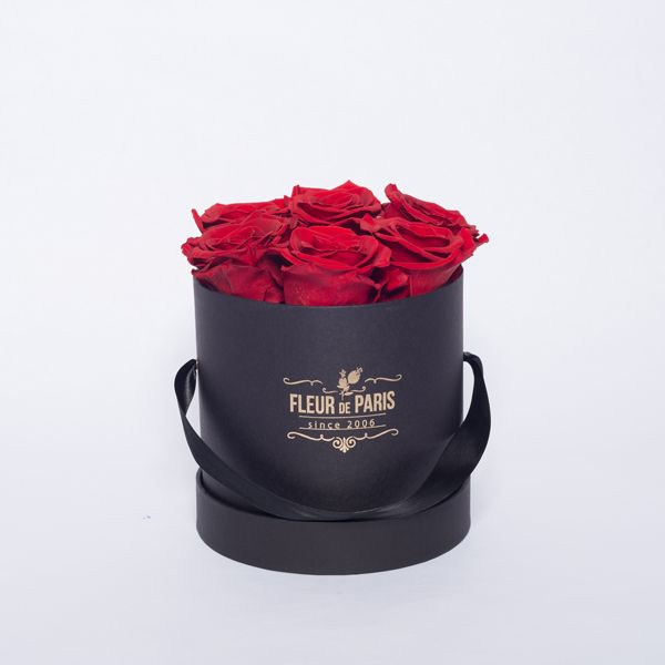 Caixa Premium Preta – Infinity Roses – Fleur de Paris