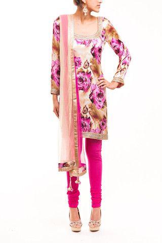 Rose Print Pajami Suit