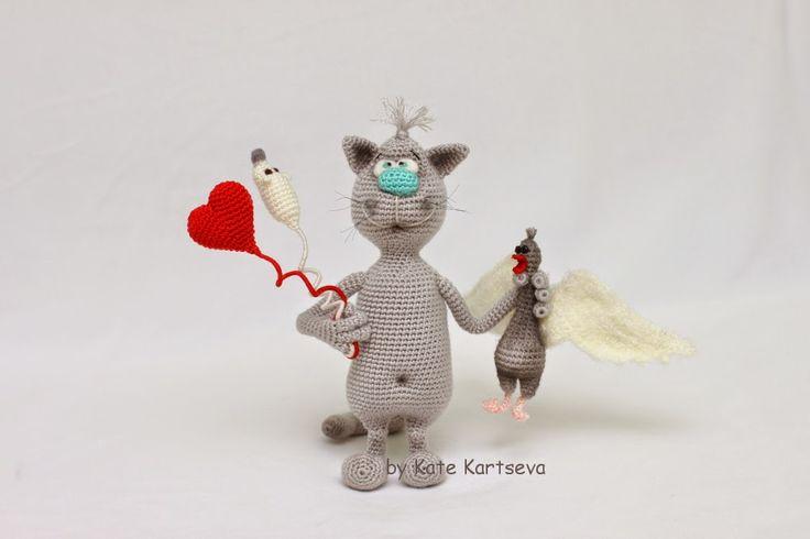 Katkyta handmade Игрушки и другие поделки ручной работы и не только: Кот-ангелочек (Продаётся/SALE)