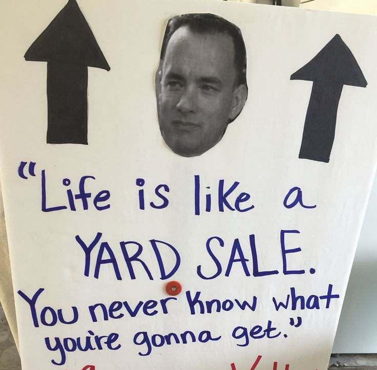 Yard Sale sign - I'm proud of this one.                                                                                                                                                                                  More
