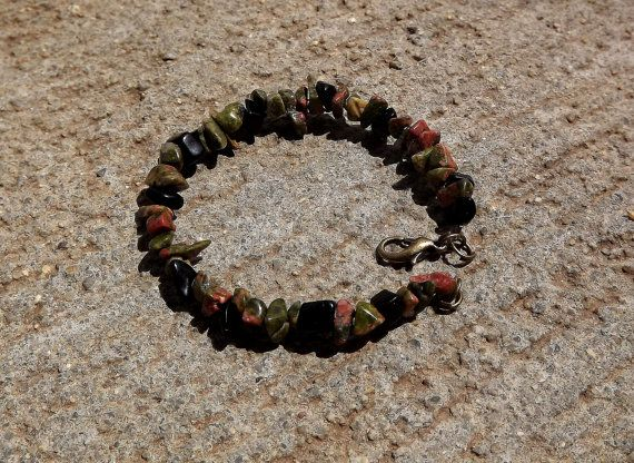 Danu Celtic Goddess Bracelet with Unakite and by FaithlisCreations, $10.80
