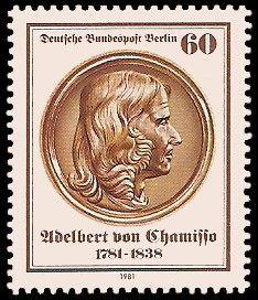 Adelbert von Chamisso auf Briefmarke der Bundespost Berlin 1981