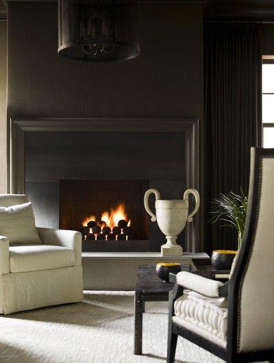 Fireplace surround.