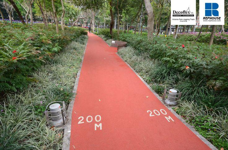 Decoflex D14 Rubber Jogging Track Victoria Park Hong