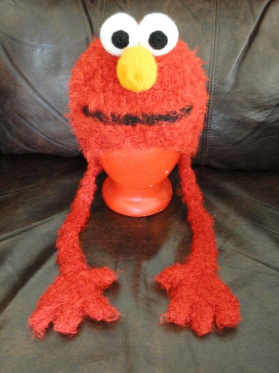 Free Crochet Patterns For Elmo Hat : Best looking elmo hat Ive seen! Knit Elmo Hat by ...