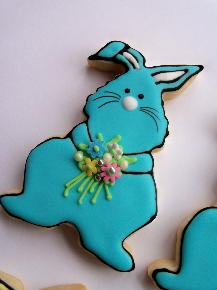Adorable Easter Bunny Cookie via @Gina Woelfel by Janny Dangerous