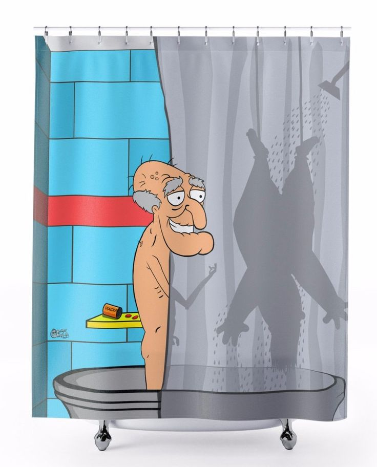 """It's Herbert's fun Time"" Shower Curtain"