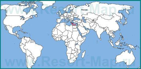 Остров Крит на карте мира