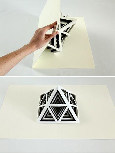Tauba Auerbach -  [2,3]  an oversized pop-up book featuring six die-cut paper sculptures