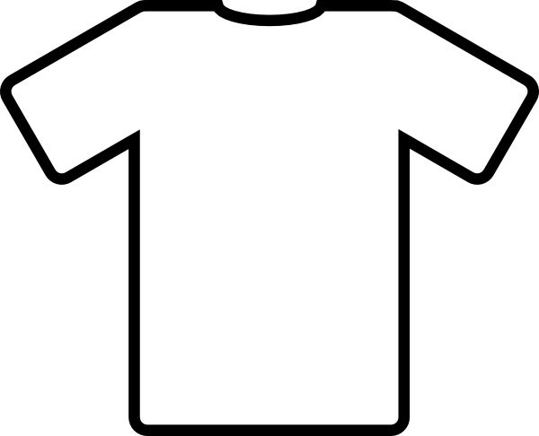 t shirt shape clipart - photo #23
