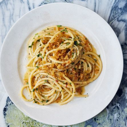 Anchovy Pasta with Garlic Breadcrumbs Recipe