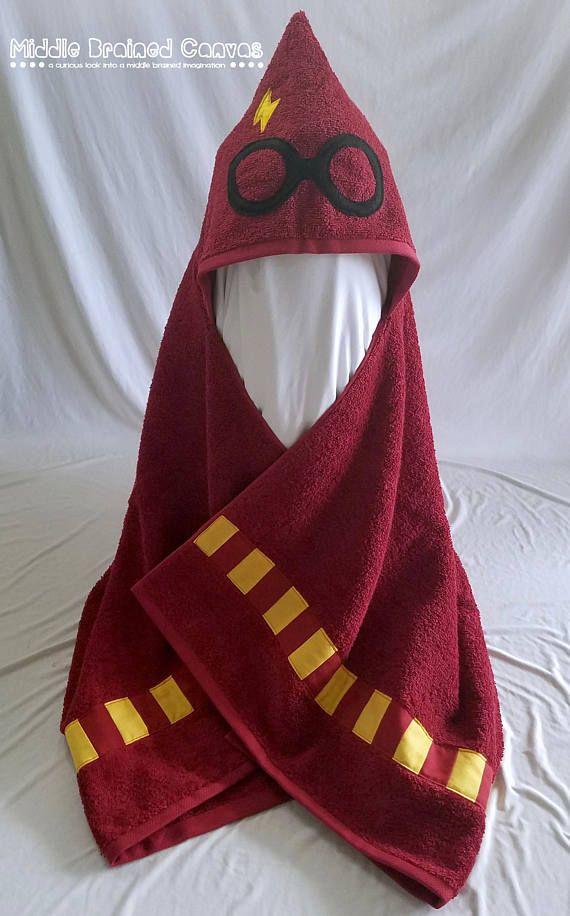 Harry Potter inspiré serviette de bain à capuche