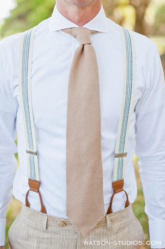 i like the old suspender style. John David wears this kind of suspenders on a daily basis. They hook into your pants with buttons on the inside. Very classy, and they come in lots of colors. Just an idea. ;)