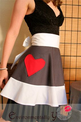 I love aprons!  Sexy cook half apron special Valentine's by EnvironmentallyYours,