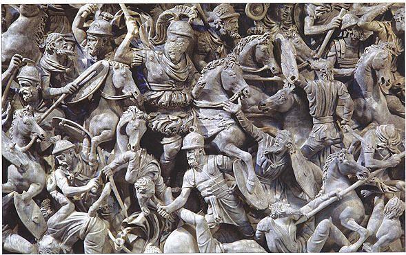 Roman carved battle scene ad o— pinterest