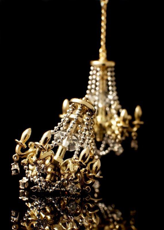 Sterling Silver Chandelier Earrings by MetalCoutureJewelry on Etsy, $1600.00
