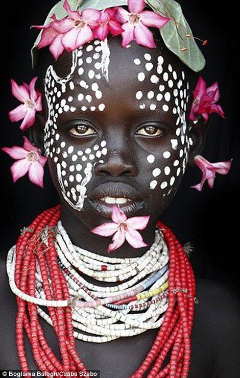 She morphed herself into a member of the Karo tribe which has a population of 1,500, in Ethiopia