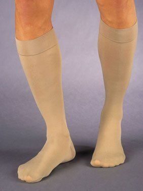 Jobst Relief Knee High Socks #114807 Beige Medium by Jobst. $22.22. Jobst quality at a Relief price.   This 15-20mmHg knee high is a new item in the Jobst Relief line of support stockings. Relief is Jobst's economy line and features a generous toe area and reinforced heel pocket for durability. Available in beige with a closed or open toe and in black with closed toe only.   This level of compression helps improve blood flow, prevent edema (swelling), and reduce the disco...