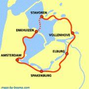 Zuiderzeepad Amsterdam - Enkhuizen - Stavoren - Vollenhove - Elburg - Spakenburg http://wandelnet.nl/zuiderzeepad-law-8