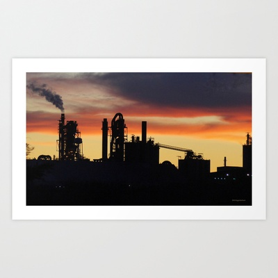 Industrial Sunset Art Print by DiDi Higginbotham - $17.00