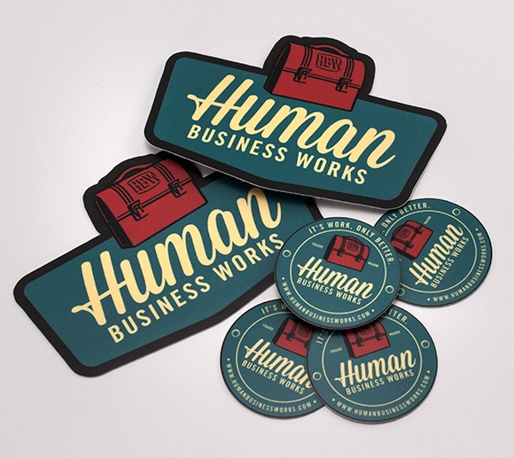Human business works stickers