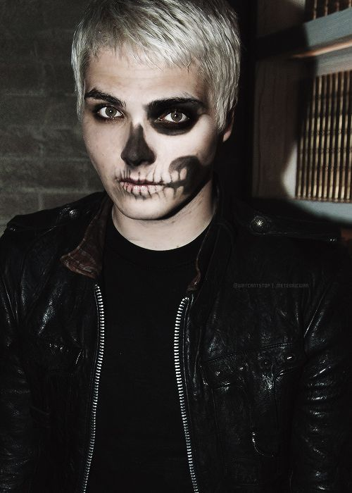 Gerard Way had some amazing face paint during The Black Parade. Might want to try for Halloween sometime.