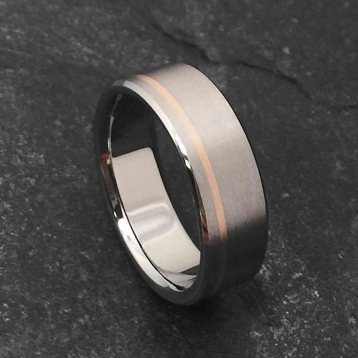 Rose Gold and Titanium Ring, Titanium Wedding Ring, Mens Titanium Band, Womens Titanium Ring, Titanium Band, Engagement Ring, Promise Ring by ClassicTitanium on Etsy https://www.etsy.com/listing/251667721/rose-gold-and-titanium-ring-titanium