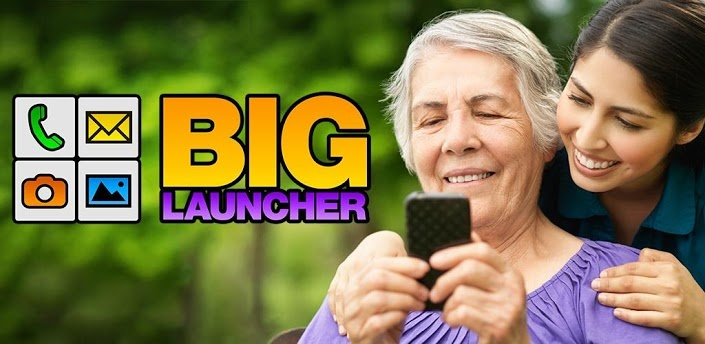 BIG Launcher - BIG Launcher makes the smartphone suitable for seniors, children, and people with eye diseases, motor problems or the legally blind. Visually impaired and technically challenged users can use the simple and easy-to-read interface with ease. There is no fear of making a mistake and losing everything with stress-free navigation. And it also features the SOS button which can save lives!