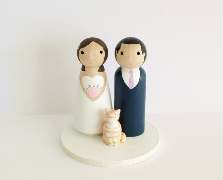 I'm sold on the peg people cake topper. How about two little peg cats to go along with it?