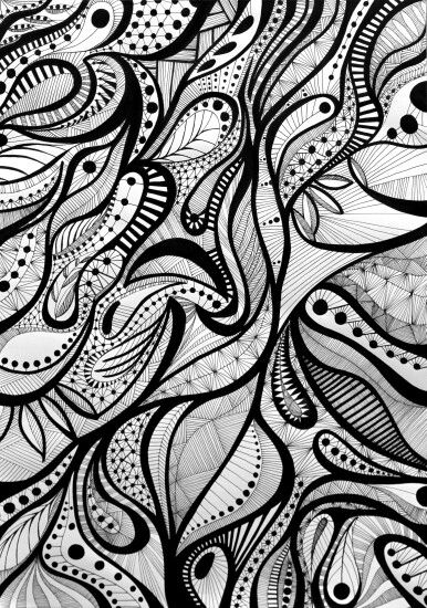 Free Forms B&W,  original illustration.  Available by order.