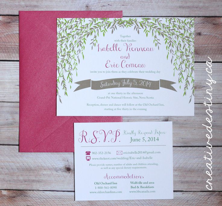 custom wedding invitations nashville%0A  hurricanearthur willow tree invitation  grand pre  NS  nova  Custom  InvitationsWedding