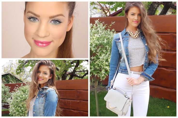 ♥ Get Ready With Me for Spring - Makeup & Outfit ♥ See the actual price of this denim jacket at our online store... www.famevogue.ro....soon international shipping will be also available...:)  #famevogue #style #fashion #clothing #haine #moda