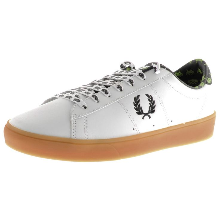 Fred Perry X Space Invaders Spencer Trainers White