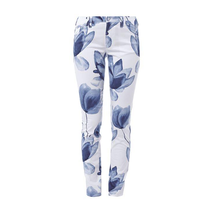 #Armani #Jeans #Damen #Stoffhose mit #floralem #Print - Damenstoffhose von…